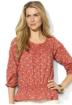 Lauren Jeans Co. Floral Peasant Tunic