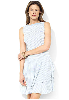 Lauren Jeans Co. Striped Boatneck Tiered Dress