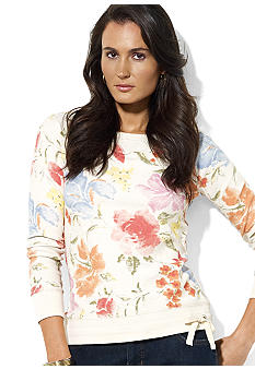 Lauren Jeans Co. Long-Sleeved Floral French Terry Pullover