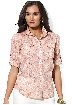 Lauren Jeans Co. Long-Sleeved Floral Cotton Workshirt