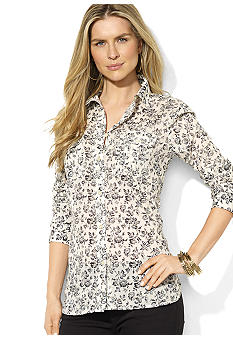 Lauren Jeans Co. Long-Sleeved Floral Blouse