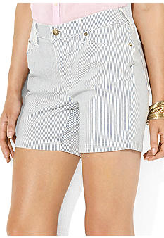 Lauren Jeans Co. Striped Denim Short
