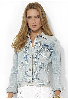 Lauren Jeans Co. Washed Denim Jacket