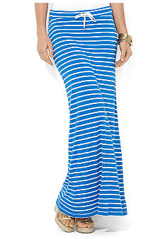 Lauren Jeans Co. Striped Jersey Maxi Skirt