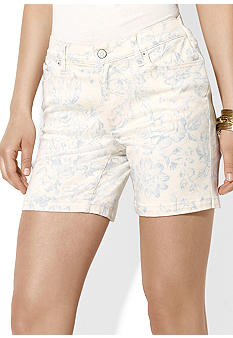 Lauren Jeans Co. Floral Denim Shorts