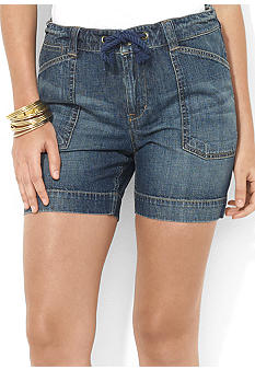 Lauren Jeans Co. Drawcord Denim Short