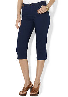 Lauren Jeans Co. Belted Cotton Capri Pant