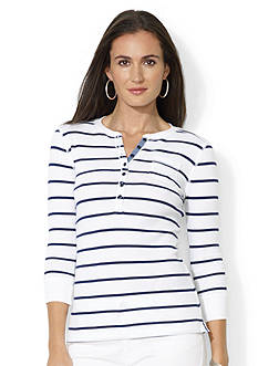 Lauren Jeans Co. Striped Crewneck Henley