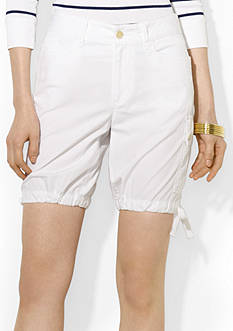 Lauren Jeans Co. Cotton Poplin Cargo Short