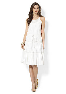 Lauren Jeans Co. Sleeveless Tiered Cotton Dress