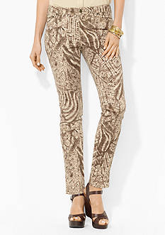 Lauren Jeans Co. Patterned Stretch Skinny Jean