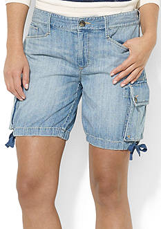 Lauren Jeans Co. Denim Cargo Short
