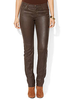 Lauren Jeans Co. Coated Stretch Skinny Jean<br>