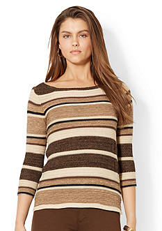 Lauren Jeans Co. Striped Boatneck Sweater