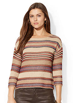 Lauren Jeans Co. Striped Cotton Sweater