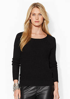 Lauren Jeans Co. Buttoned-Hem Sweater