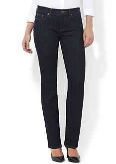 Lauren Jeans Co. Super Stretch Slimming Classic Straight Jean