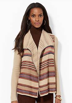 Lauren Jeans Co. Open-Front Striped Cardigan