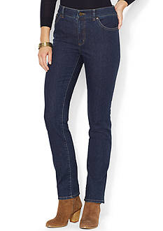 Lauren Jeans Co. Super Stretch Slimming Heritage Straight Jeans