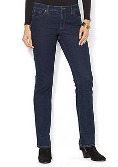 Lauren Jeans Co. Super-Stretch Modern Curvy Rinse-Wash Jean
