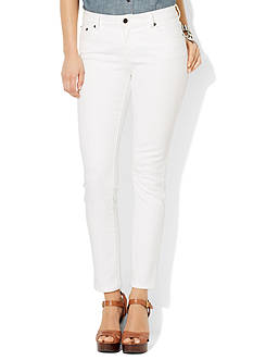 Lauren Jeans Co. Classic Straight White Jeans