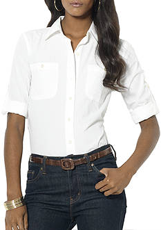 Lauren Jeans Co. Roll-Tab Broadcloth Shirt