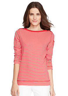 Lauren Jeans Co. Cotton Boat Neckline Top