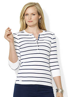 Lauren Jeans Co. Striped Pocket Henley