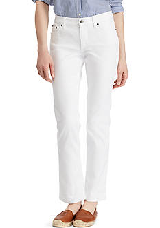 Lauren Jeans Co. Super-Stretch Modern Curvy White-Wash Jean