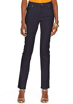 Lauren Jeans Co. Super-Stretch Modern Curvy Harbor-Wash Jean