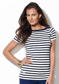Lauren Jeans Co. Striped Boat Neck Shirt