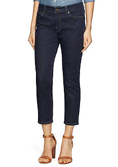 Lauren Jeans Co. Cropped Straight Premier Jeans