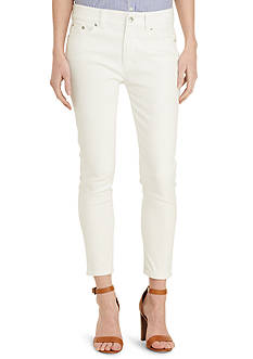 Lauren Jeans Co. Straight Cropped Stretch Jean