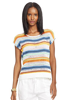 Lauren Jeans Co. Striped Sleeveless Sweater