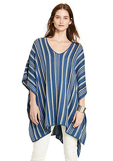 Lauren Jeans Co. Striped Linen-Cotton Poncho