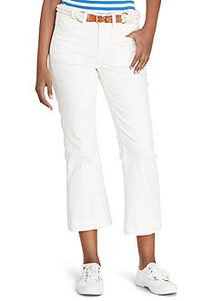 Lauren Jeans Co. Cropped Straight-Leg Jean