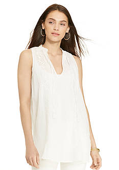 Lauren Jeans Co. Embroidered Cotton Tunic