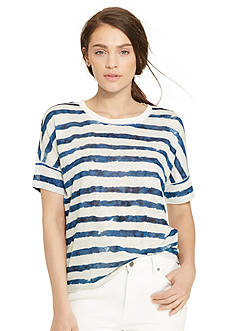 Lauren Jeans Co. Striped Linen Tee