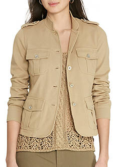 Lauren Jeans Co. Cotton Jersey Military Jacket