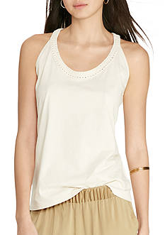 Lauren Jeans Co. Macrame Cotton Tank