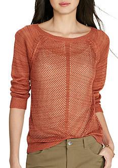 Lauren Jeans Co. Open-Knit Linen-Blend Sweater