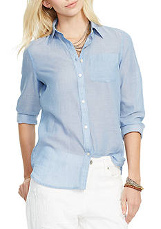 Lauren Jeans Co. Cotton Pocket Shirt