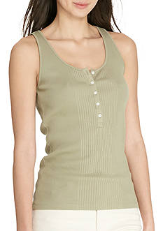 Lauren Jeans Co. Ribbed Cotton Tank