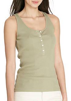 Lauren Jeans Co. Ribbed Cotton Tank