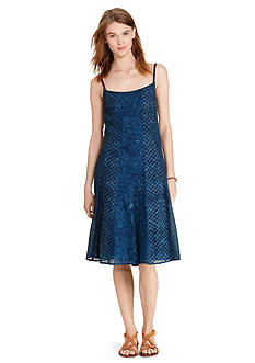 Lauren Jeans Co. Gauze Fit-and-Flare Dress