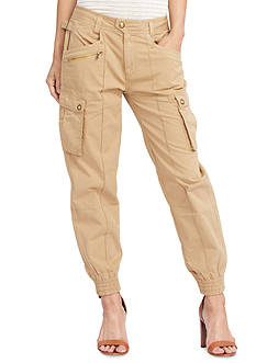 Lauren Jeans Co. Cotton Chino Cargo Pants