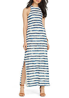 Lauren Jeans Co. Striped Linen Maxidress