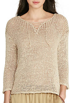 Lauren Jeans Co. Lace-Up Sweater