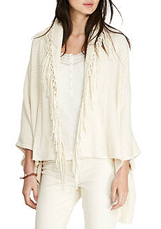 Lauren Jeans Co. Fringed Cotton Cardigan