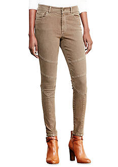 Lauren Jeans Co. Stretch Skinny Moto Jean